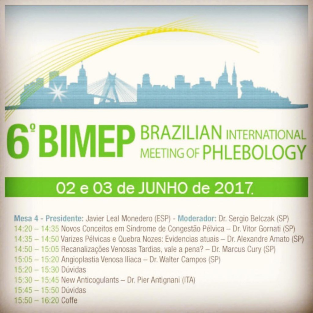 Resultado de imagem para brazilian international meeting of phlebology 2017